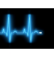 heartbeat glow on a black monitor eps 8 vector image vector image
