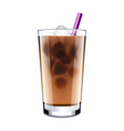 Ice coffee isolated on white vector image