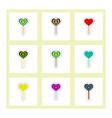 label icon on design sticker collection bonbon vector image vector image