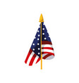 national american flag vector image vector image