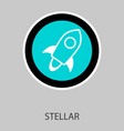 of stellar xlm cryptocurrency coin virtual money vector image