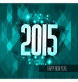Original 2015 happy new year modern background vector image vector image