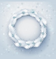paper christmas wreath vector image