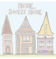 PastelHouses vector image vector image