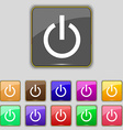 Power icon sign Set with eleven colored buttons vector image