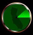 radar on california vector image vector image