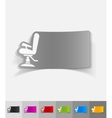realistic design element barber chair vector image