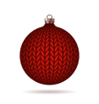 Red Knitted Christmas Ball vector image vector image