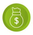 saving money bag cartoon vector image vector image