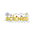 Science word vector image vector image