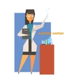 Scientist Woman Abstract Figure vector image