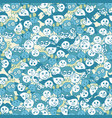 seamless pattern of different kids face vector image vector image