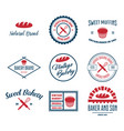 set of bakery and bread logos labels badges vector image