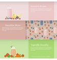 Set of banners with fruit and vegetable smoothies vector image