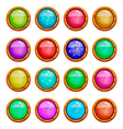 set of game buttons vector image