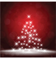 Sparkle Christmas tree background vector image