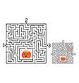 Square halloween maze labyrinth game for kids
