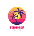 summer forever - concept business badge vector image