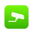 surveillance camera icon digital green vector image vector image