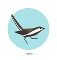 The symbol of the bird in style flat vector image