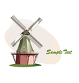 traditional windmill vector image vector image