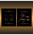 Two elegant design of card for Fathers day vector image vector image
