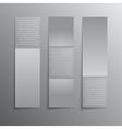 Vertical Rectangle Grey Paper Banner Mockup vector image vector image