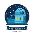 Vintage space and astronaut badge or label vector image vector image