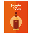 vodka and beer vector image