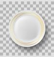 white ceramic plate vector image