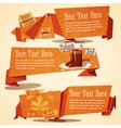 Set of cute autumn vintage stylized banners vector image