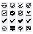 Confirm icon set vector image