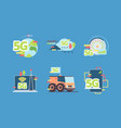 5g technology future fast online connection vector image vector image