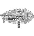 a journey to happiness and balance text word vector image vector image