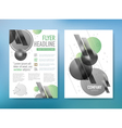 Abstract Brochure Flyer design template in A4 size vector image vector image