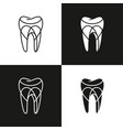 abstract dental logo design vector image vector image