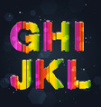 Abstract Rainbow Font G-L vector image vector image