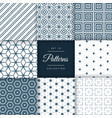 abstract set of pattern in geometric style vector image vector image