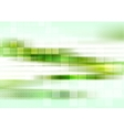 Abstract tech green striped background vector image vector image