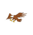 American Bald Eagle Swooping Cartoon vector image vector image