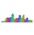 Atlanta skyline silhouette - multicolor line art vector image vector image