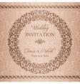 Baroque wedding invitation brown vector image vector image