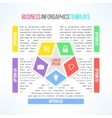 bright infographic template suitable for vector image