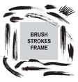 Brush strokes border frame - concept background ba