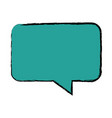 bubble speak chat text message icon vector image