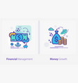 business and finance concept icons financial vector image vector image
