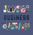 Business Concept with Flat Style Icons vector image vector image