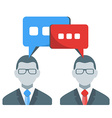 Business people communication concept in fl vector image vector image