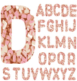 Candy Alphabet Letters - Hand Drawn Font with vector image