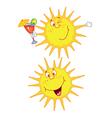 cheerful sun vector image vector image